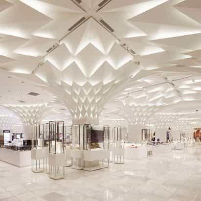 Paneles de aluminio en forma de hoja cubierta de techo de techo de tokio