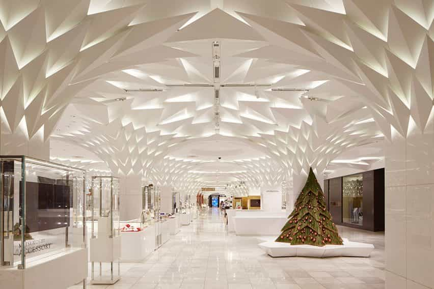 Renovación interior de Nihombashi Mitsukoshi por Lighting Planners Associates