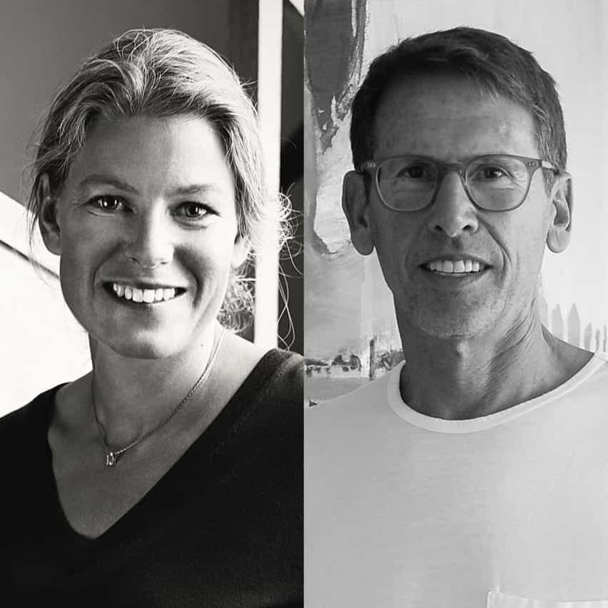 Diseñador Emma Olbers y CEO Emeco Gregg Buchbinder
