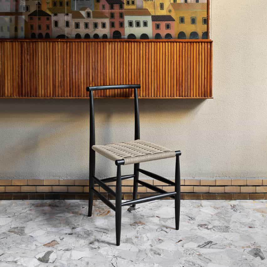 Silla Pellarossa con asiento apresurado diseñado por Francesco Faccin para miniformes