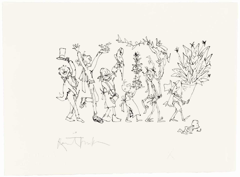 Christie's para abrir una subasta de 200 raros dibujos de Blake de Quentin en una variedad de precios