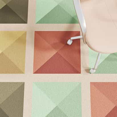 Alfombra multicolor Loggia de Talk Carpet