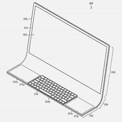 patentes de Apple iMac alojado en una sola hoja de vidrio curvada