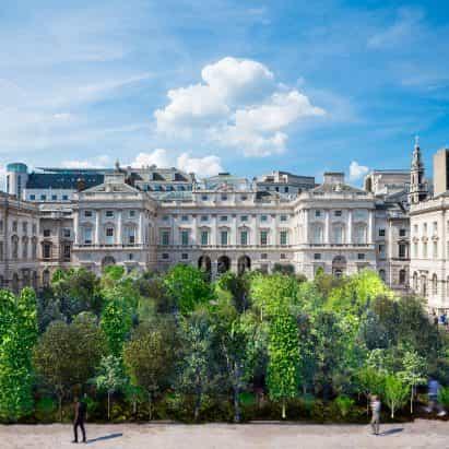 Es Devlin llenará el patio de Somerset House con 400 árboles para la Bienal de Diseño de Londres