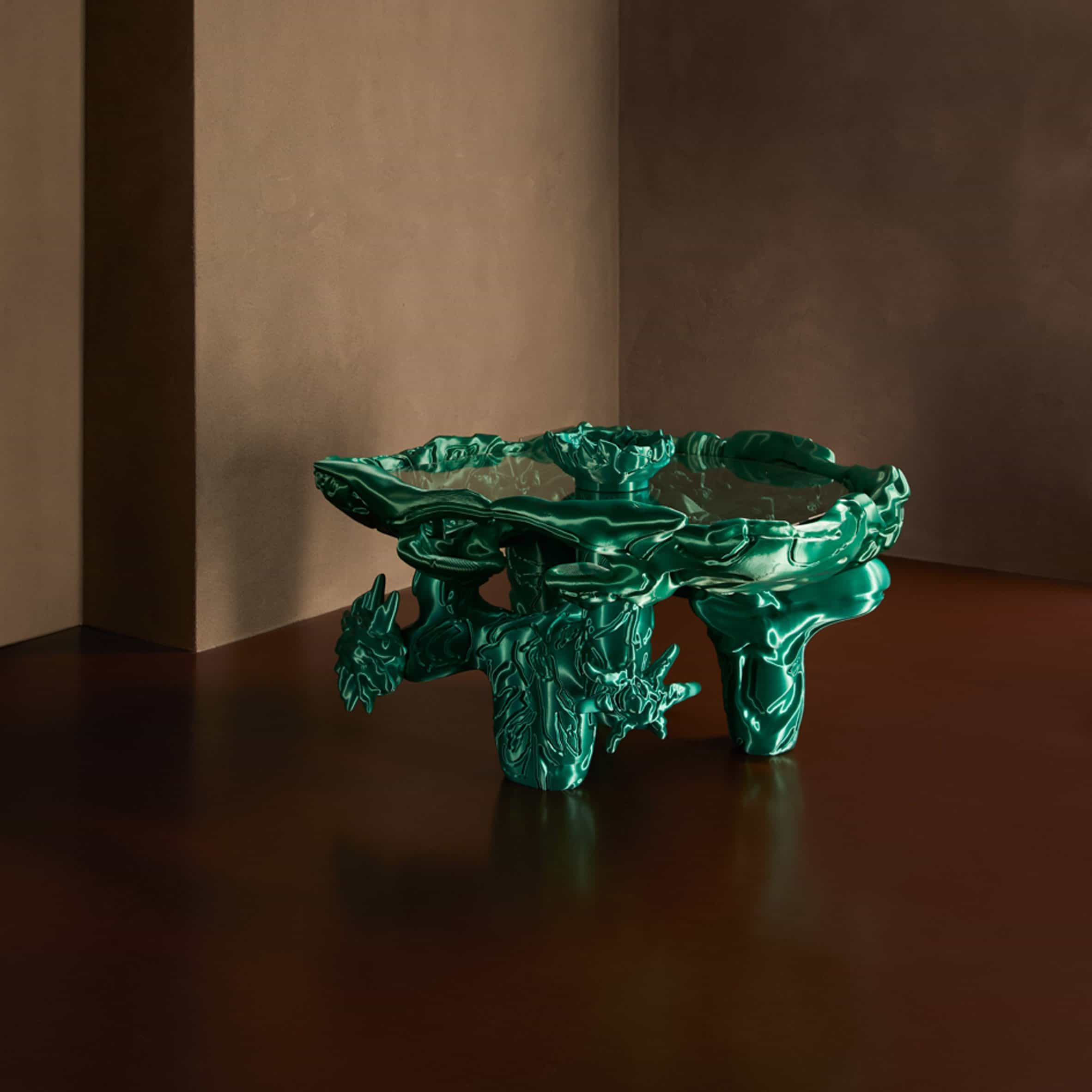 Audrey Large diseña esculturas impresas en 3D informadas por gráficos digitales