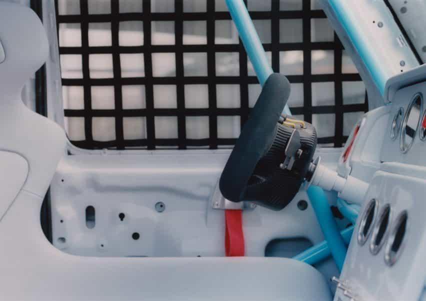 Vista interior del coche Proyecto Geländewagen por Virgilio Abloh y Mercedes Benz