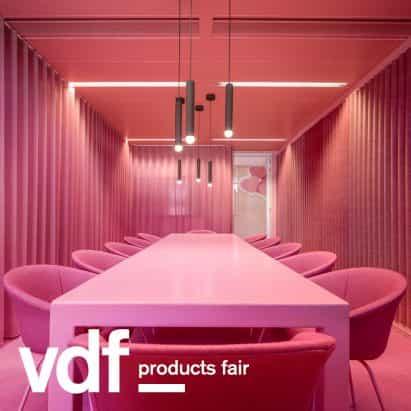 Lensvelt focos muebles de OMA, Richard Hutten y Staat en la feria de productos VDF