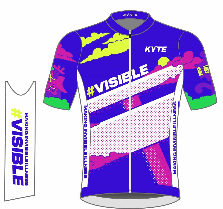"""El maillot de ciclismo de Kyle Platts para Kyte hace que """"lo invisible sea visible"""""""