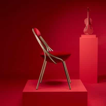 Maestro silla de Lee Broom es un homenaje a los instrumentos clásicos