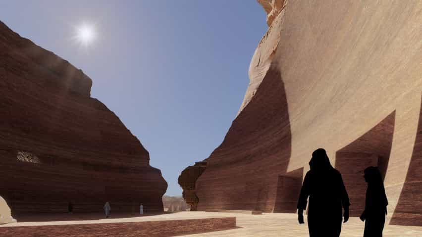 Hotel Cave en el desierto de Alula de Arabia Saudita