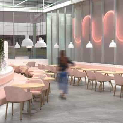 El diseño interior se encuentra con la comunicación visual en la Universidad de Nuevo Diseño escuela muestran