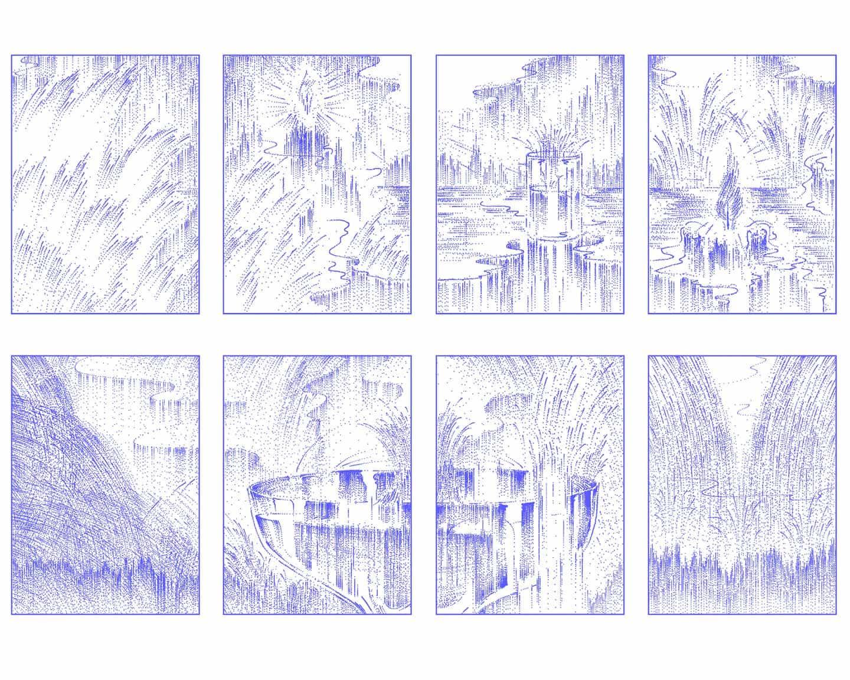Una repetición de marcas mezcladas con una sensación de incertidumbre, sumergirse en el experimental funciona de Hyunjung Huh