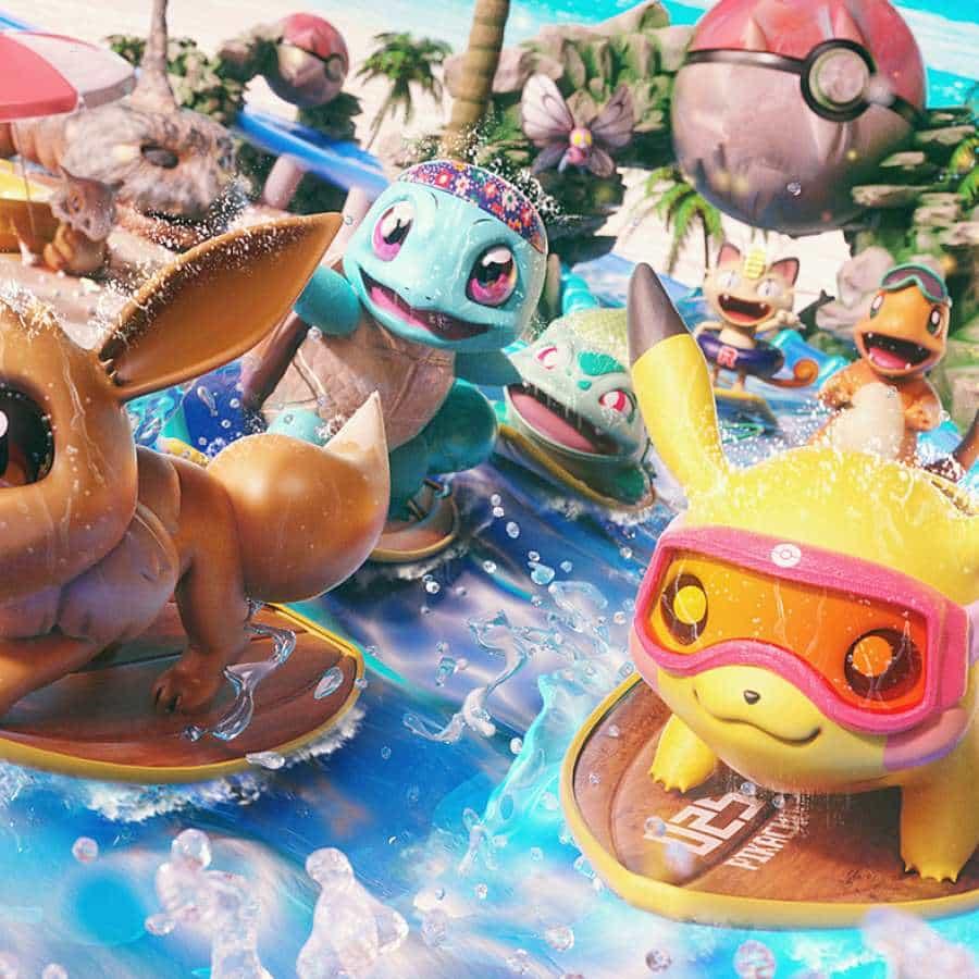 Arte de Pokémon en 3D hecho con Cinema 4D