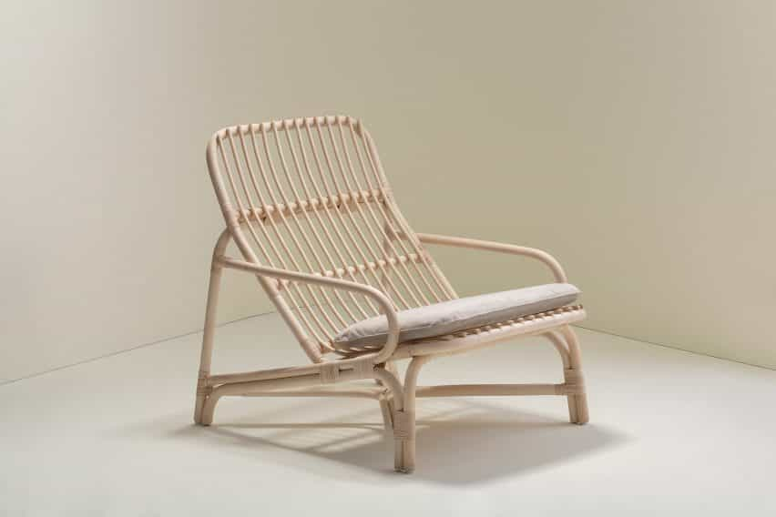 sillón de ratán por Christian Vivanco para la Balsa