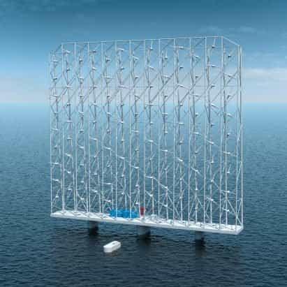Wind Catching Systems diseña un parque eólico flotante gigante con 117 turbinas
