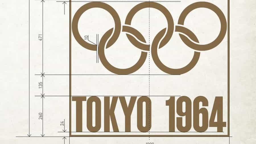 Se descubre una impresionante hoja de diseño del logotipo de los Juegos Olímpicos de 1964