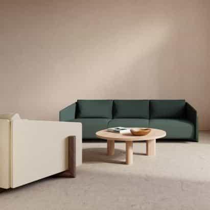 Colección de asientos de madera de Charles Kalpakian para Kann Design