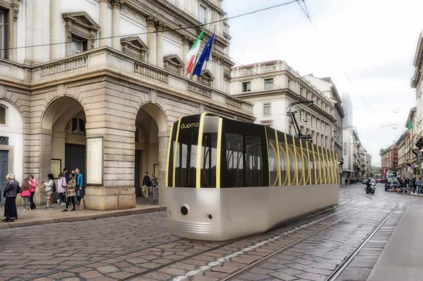 Arturo Tedeschi rediseña el histórico ATM Clase 1500 de tranvía para un mundo post-Covid