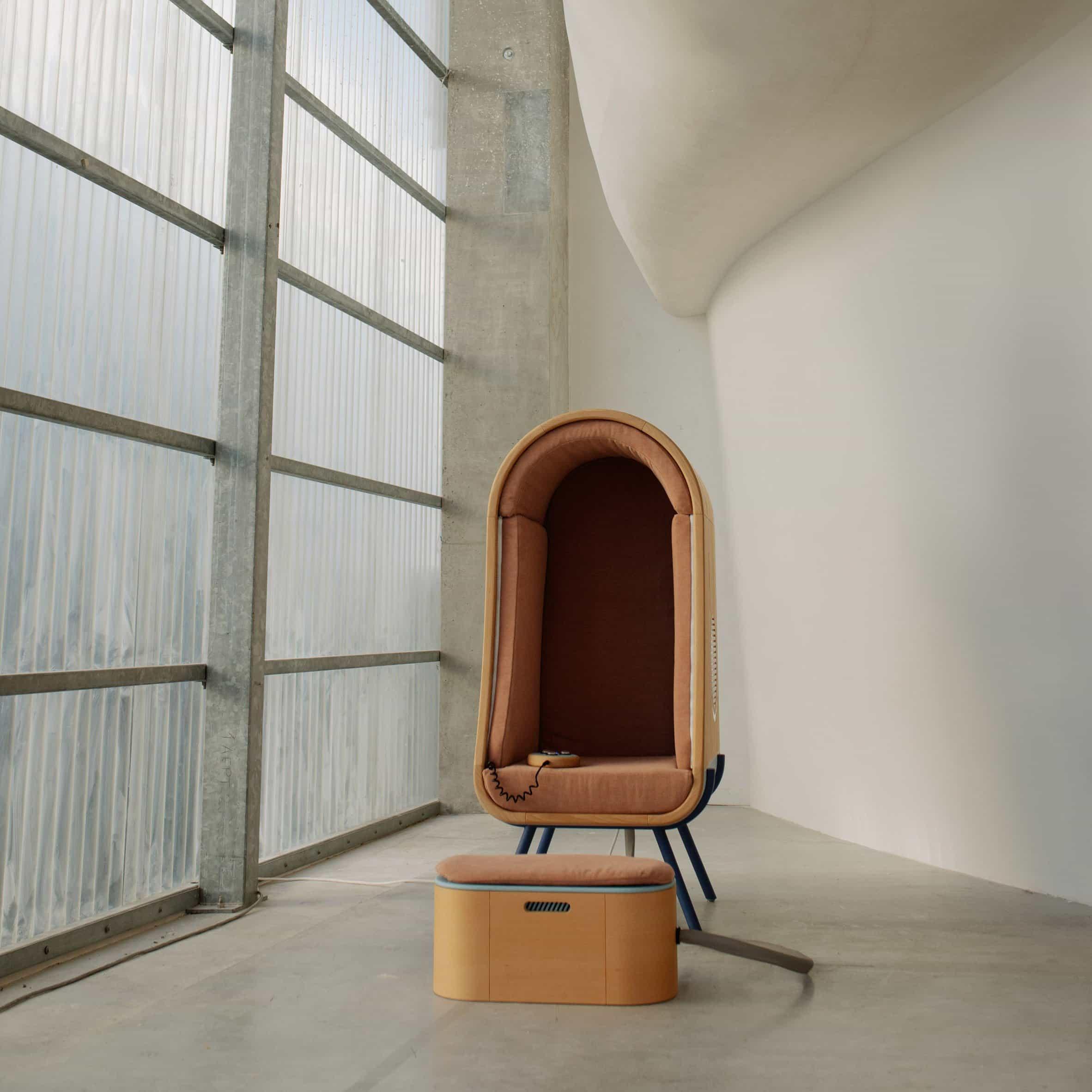 Alexia Audrain diseña una silla de abrazo para consolar a las personas con autismo