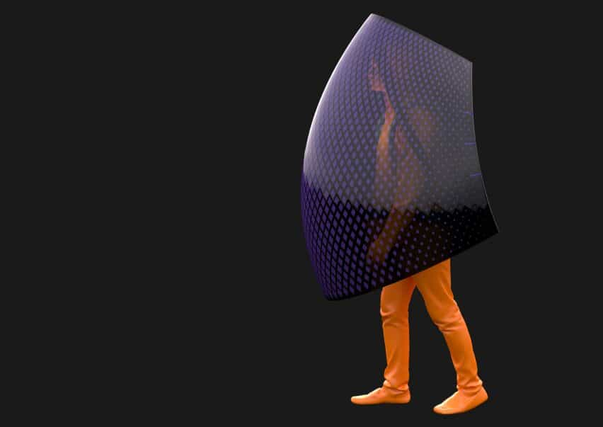 Ser un hombre del palo por Sun Dayong es un dispositivo de seguridad móvil o escudo contra coronavirus