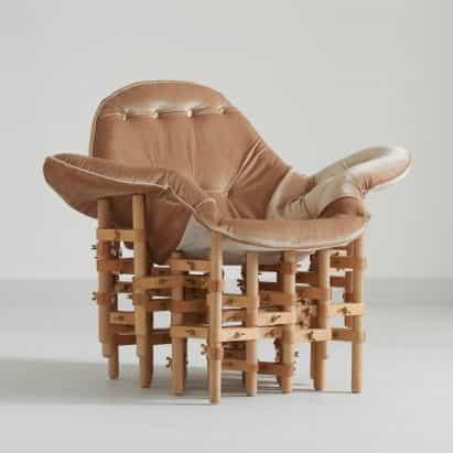 Envisioned Confort asientos muebles pares de recogida de terciopelo con marcos de madera