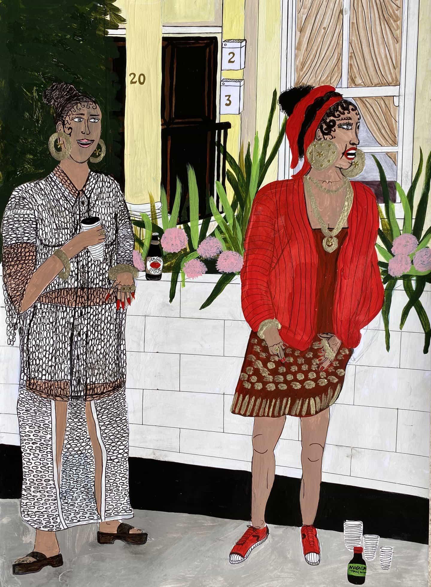 Las pinturas de Conor Murgatroyd celebran el multiculturalismo de Gran Bretaña de hoy
