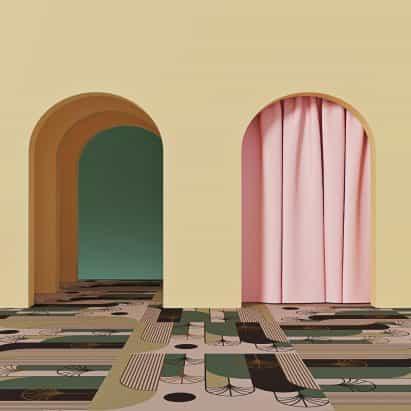 Alfombra de Palmas Rosas por Talk Carpet