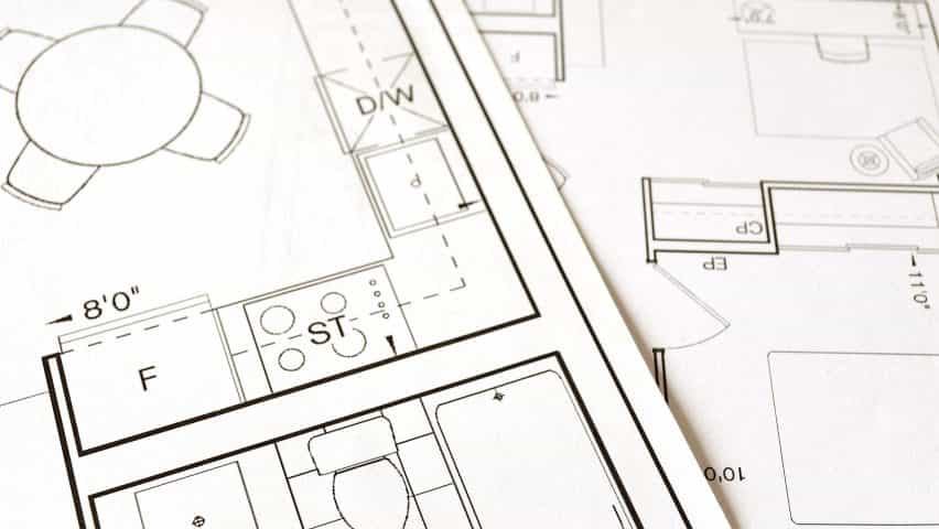 La construcción de planes para ilustrar las noticias de los estándares mínimos de espacio para viviendas permitidas en Inglaterra