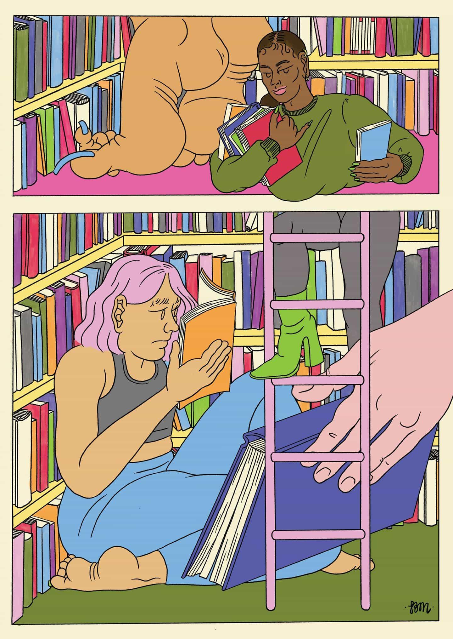 Bridget Meyne: Postal para que ella dijo Librería en Berlín (Copyright © Bridget Meyne, 2020)
