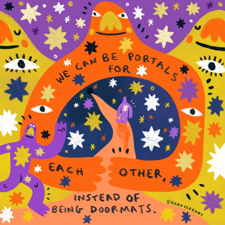 Inspirado por los Muppets y Keith Haring, el ilustrador Barry Lee utiliza imágenes alegres para difundir mensajes poderosos.