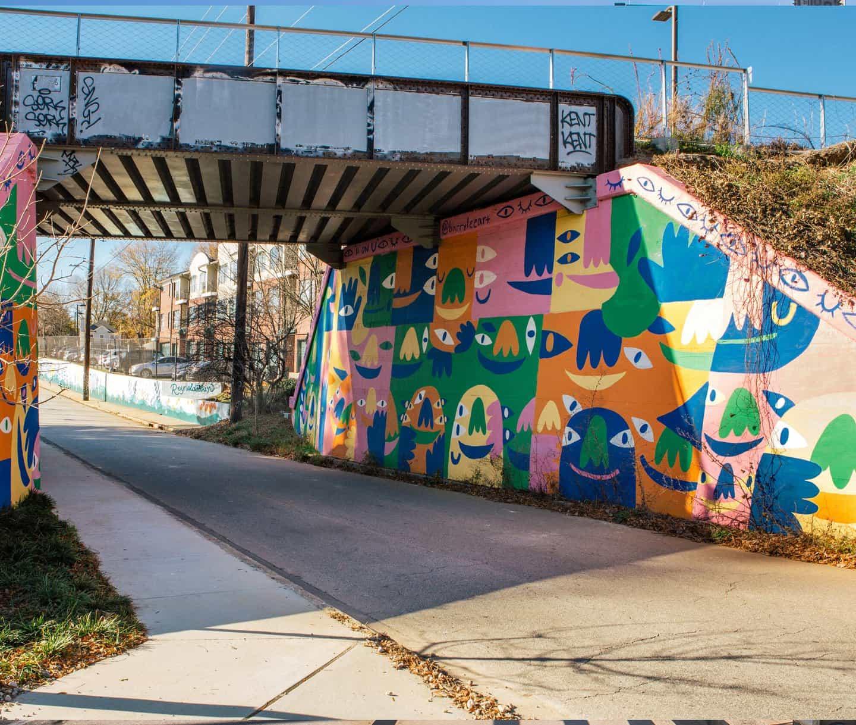 Mural de I's On U. Foto por Savana Ogburn.