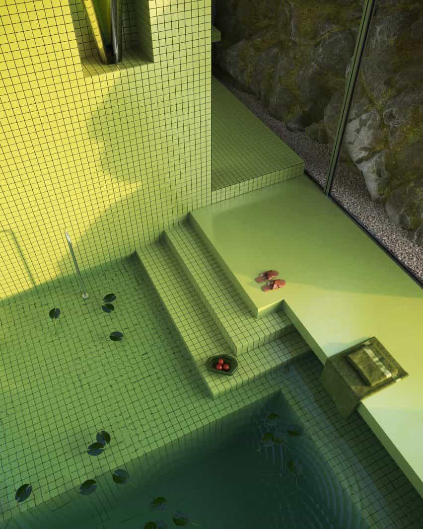 Baño en una casa virtual
