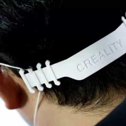 Creality de 3D-impreso hebilla de marcas con máscaras faciales más cómodo
