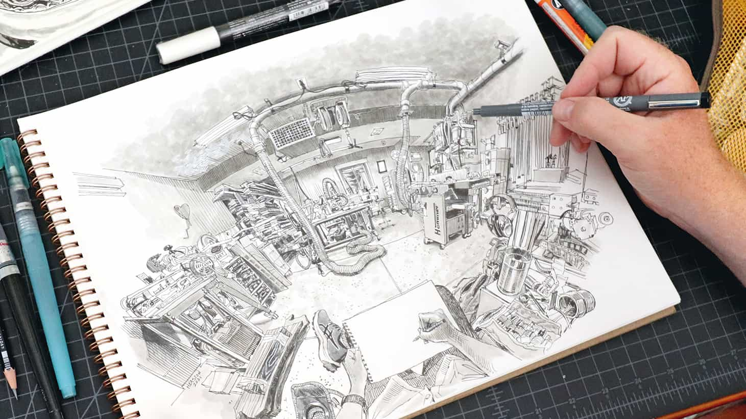 Cómo dibujar una perspectiva de gran angular
