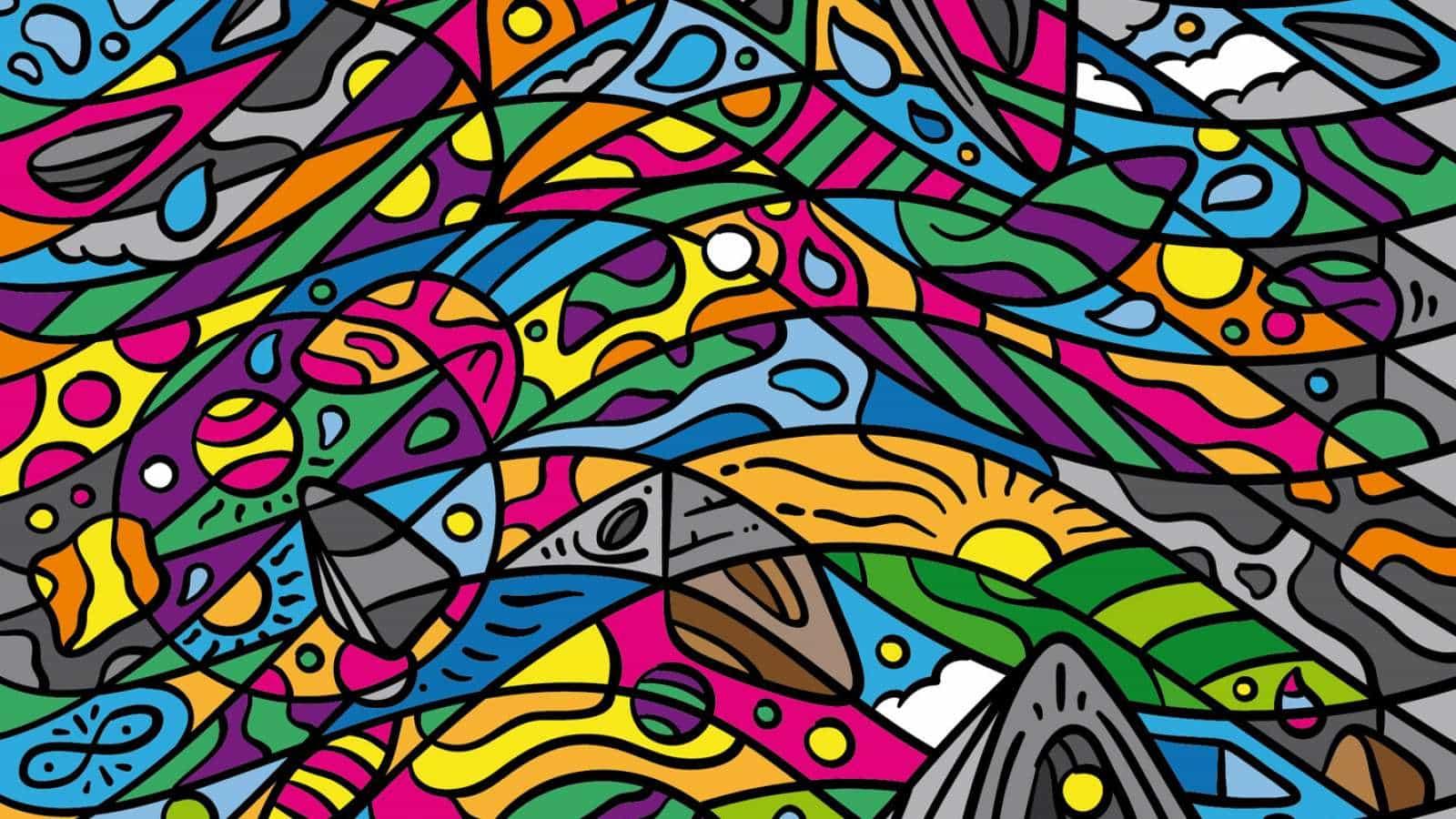 """Flavio Melchiorre comparte un proyecto de ilustración colorido titulado """"Tropicalia"""" - 2020. Se describe el proyecto como un mejor diseño digital experimental en los patrones caleidoscópicos modulares. El resultado es un conjunto de composiciones muy colorido con un estilo que me recuerda un poco del arte de la famosa artista brasileño Romero Britto. Otra cosa que me llamó la atención fue el término """"Tropicalia"""". Tropicália, también conocido como Tropicalismo, fue un movimiento artístico brasileño que surgió a finales de 1960 y terminó formalmente en 1968."""
