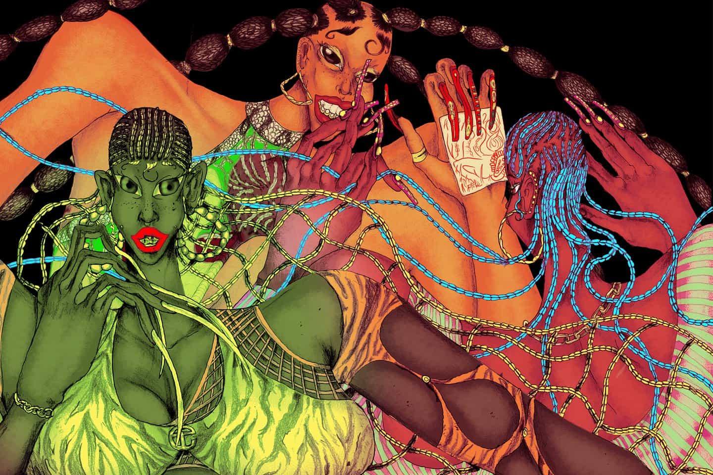 Conoce al noiamreiss muy original, en honor al arte de trenzar el pelo y afro a través de ilustraciones futuristas
