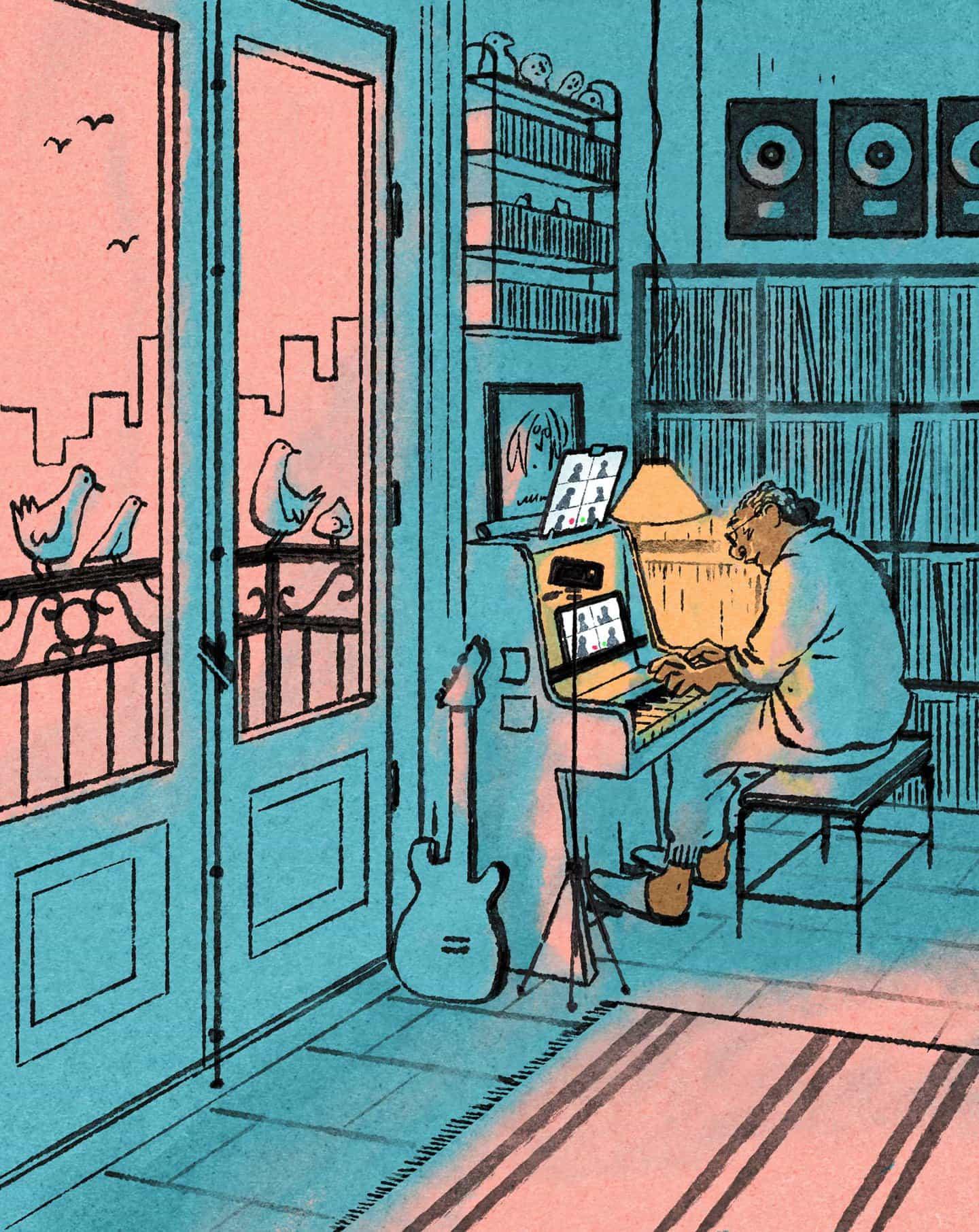 Luis Mendo: el pianista de Lockdown para Wired UK. (Copyright © Luis Mendo 2020)