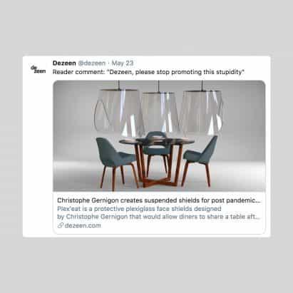 """Crítico de arquitectura acusa a los arquitectos y diseñadores de """"coronagrifting"""" con Covid-19 propuestas"""