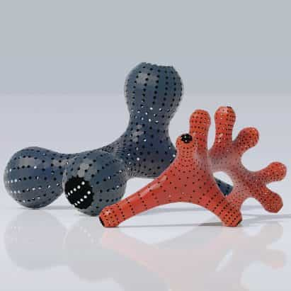 esculturas Hyperpolyps por AntiCAD