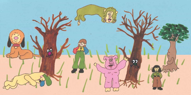 perros lindos, árboles amigables y cerdos adorables: puede ilustración Tom Jones consigue más lindo?