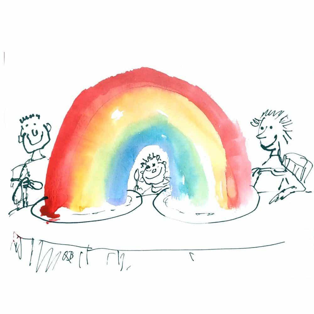 """imagina Quentin Blake """"reales, portátiles"""" arco iris se pueden enviar como e-tarjetas"""