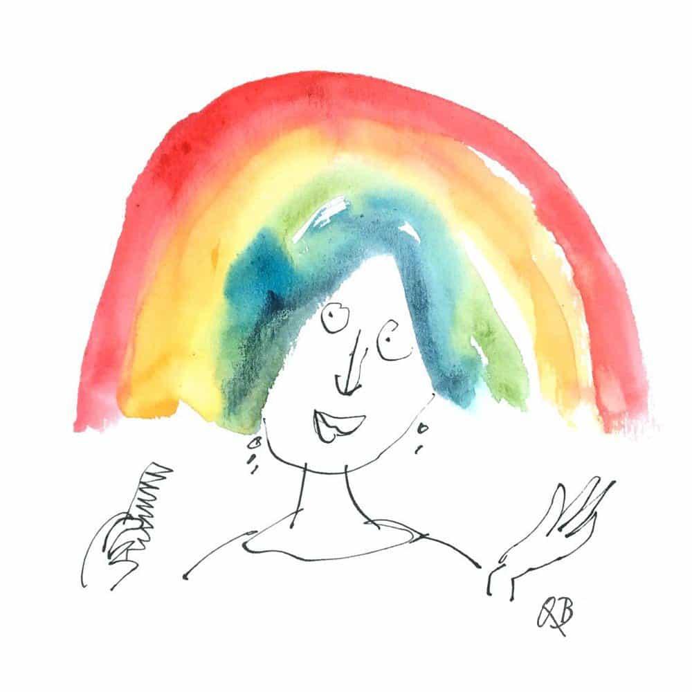 Quentin Blake: El arco iris tarjetas electrónicas