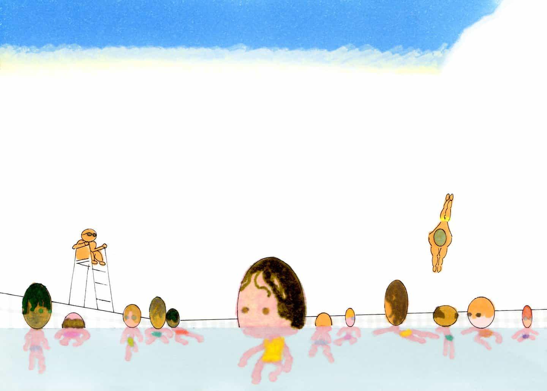Estrasburgo basado en ilustrador Saehan Parc crea escenas alternativas con cabeza de huevo