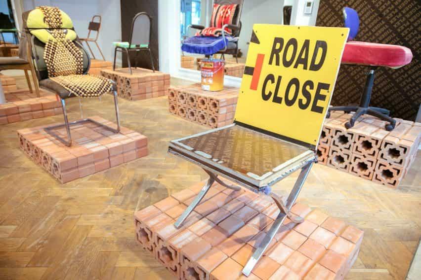 silla de SMC Samir Mohd Carpintería de Cómo ser en la instalación de descanso en la semana del diseño de Dubai