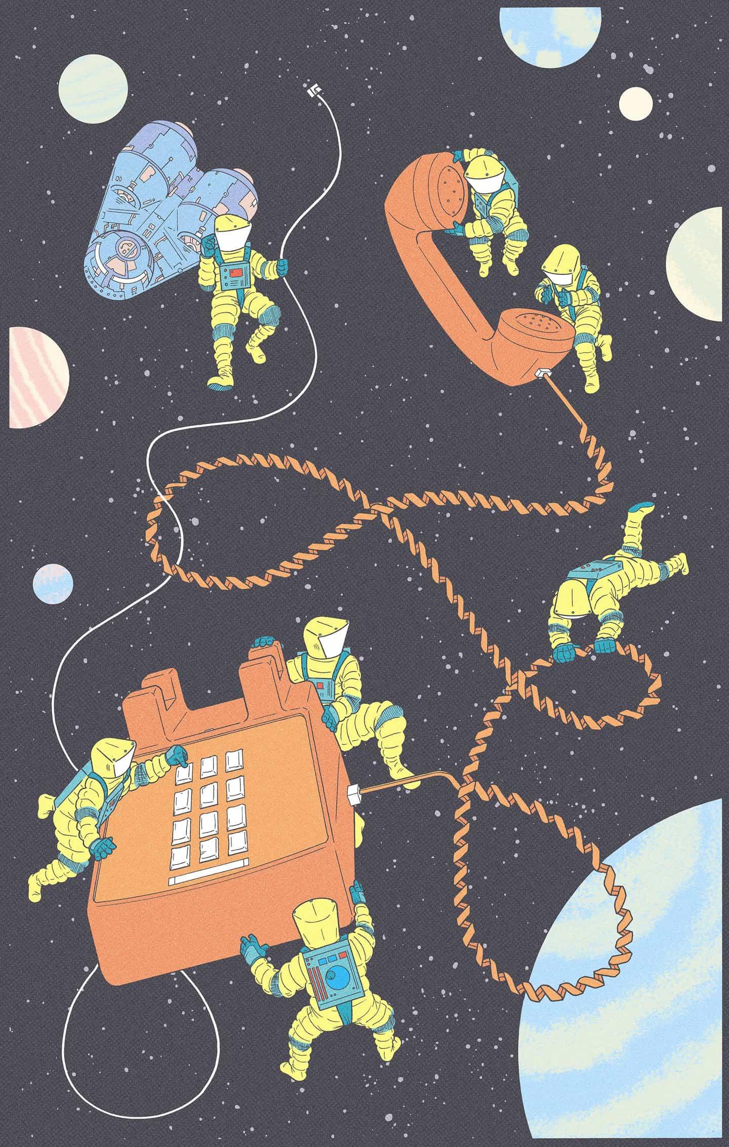 Kyle Ellingson: Ellingson's Dreams: Space Phone (Copyright © Kyle Ellingson, 2021)