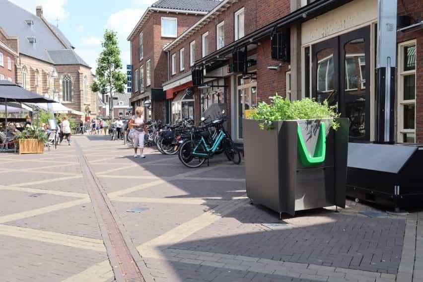 GreenPee plantador urinario sostenible en Ámsterdam