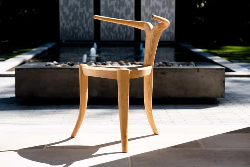silla de Nyala en la exposición de Provenanced trnK