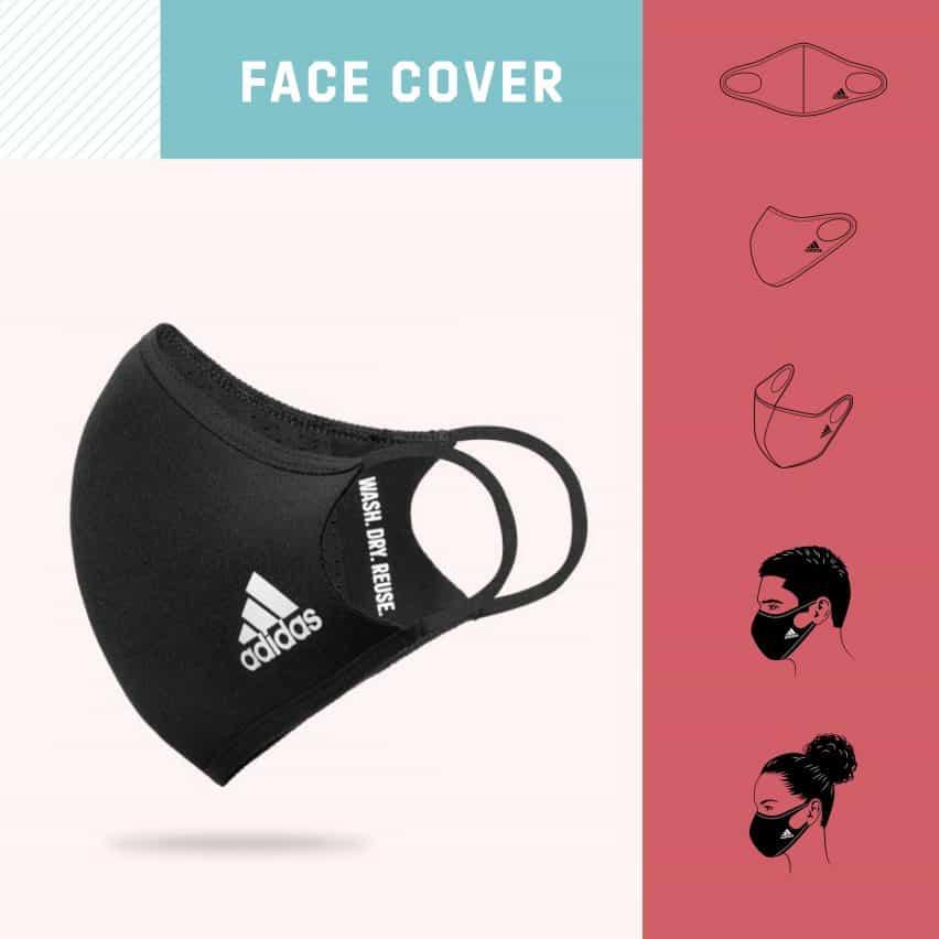 mascarilla facial cubierta de Adidas