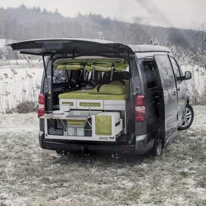 Nestbox es una extensión de maletero modular que convierte los coches en caravanas