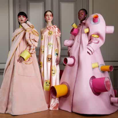 mentalidades Viktor & Rolf canales coronavirus relacionados sobre la última colección de moda